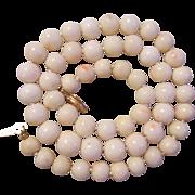 14K Angel Skin Coral Necklace