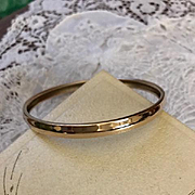 Danecraft Gold Filled Bangle 1940's
