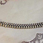 "Art Deco Sterling ""Fence"" Bracelet"