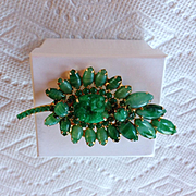Juliana Faux Jadeite Brooch Book Piece