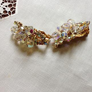 Juliana Ear Climber Crystal Earrings