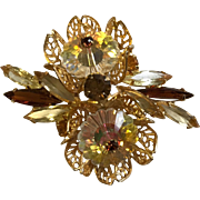 Juliana Margarita Topaz Brooch
