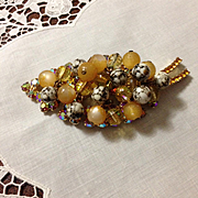 Juliana Marbled Beaded Brooch