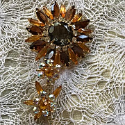 Huge Juliana Flower Brooch