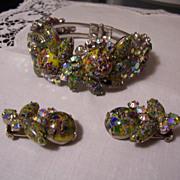 Juliana Rare Harlequin Clamper and Earrings