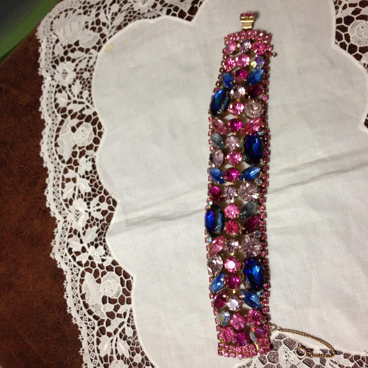 Juliana Blue Heliotrope Wide  Flat Bracelet