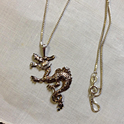Sterling Chinese Dragon Necklace