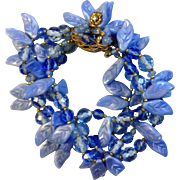 Robert DeMario Glass Bead/Leaf Bracelet