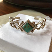 Carol Felley Sterling Turquoise Bracelet