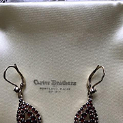Austro-Hungarian Bohemian Rosecut Garnet Earrings