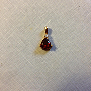 14K Garnet and Diamond Pendant