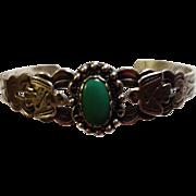 Harvey Era Sterling Thunderbird Cuff Bracelet