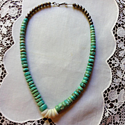 Santo Domingo Turquoise and Sterling Bead Necklace