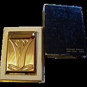 Richard Hudnut Tulip Compact/Lipstick MIB 1940's Bookpiece - Red Tag Sale Item