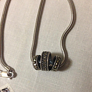 Judith Jack Sterling Marcasite Necklace