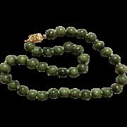 Art Deco Nephrite Jade Necklace