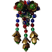 Miriam Haskell Glass Bead Dress Clip