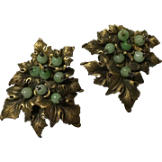 Pair of Miriam Haskell Dress Clips 1930's