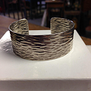 "Napier Sterling ""Shimmer"" Cuff Book Piece 1976"