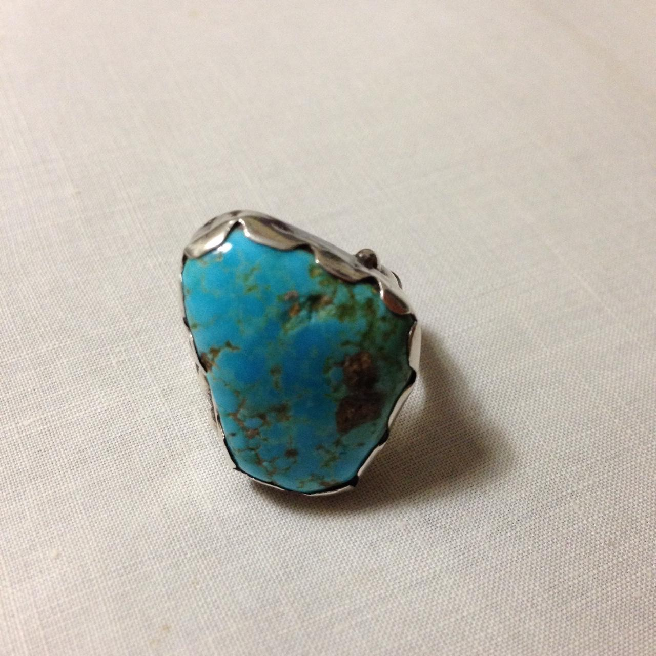Navajo Sterling and Bisbee Turquoise Ring