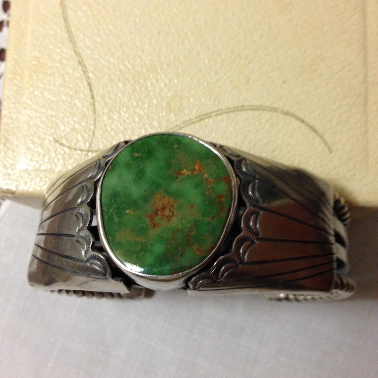 Navajo Sterling and Royston Turquoise Bracelet Artist Signed