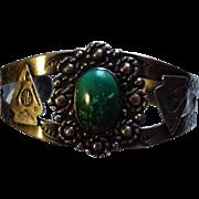Fred Harvey Era Navajo Sterling Turquoise Bracelet