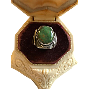 Navajo Royston Turquoise Ring Lee Charley