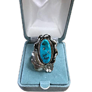 Fannie Platero Navajo Turquoise/Sterling Ring