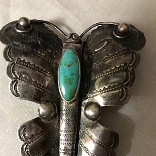 Huge Fred Harvey Era Butterfly Brooch