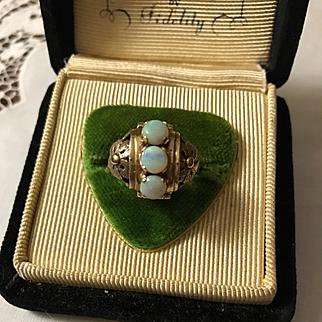 14K Edwardian Opal Ring