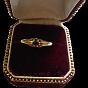 14K Edwardian Sapphire Ring