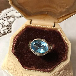 Sterling and Blue Topaz Ring by Janice Girardi