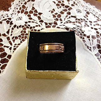 14K Gold Victorian Memorial Band Ring