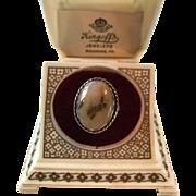 Southwest Vintage Sterling Dendritic Agate Ring Signed