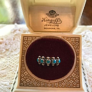 Bell Trading Company Turquoise and Sterling Ring