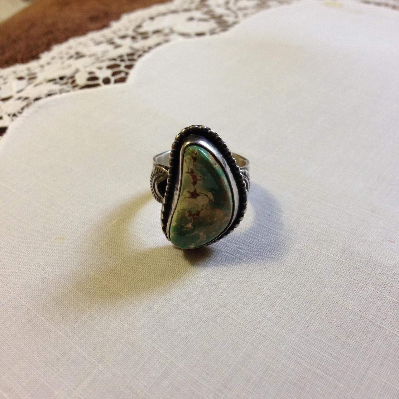 Navajo Sterling Turquoise Ring Virgil Begay