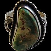 Navajo Sterling Turquoise Ring Virgil Begay