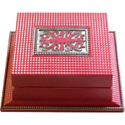 Pink Celluloid Ring Box