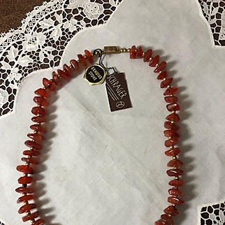 Schrager Carnelian Bead Necklace