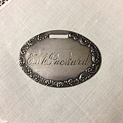 Edwardian Sterling Luggage Tag