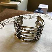 Taxco Pre-Eagle Sterling Cuff Bracelet