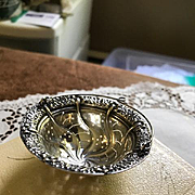 Tiffany Sterling Repousse Basket Tea Strainer