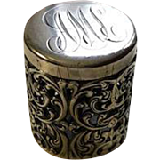 Unger Bros Sterling Thimble Holder