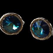 Vendome Blue Watermelon Rivoli Earrings