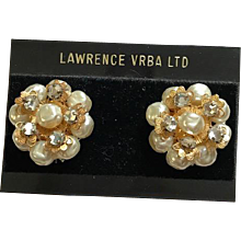 Larry Vrba Haskell Style Clip Earrings
