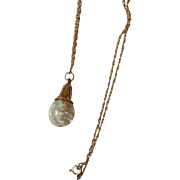 14K Horace Welch Floating Opal Necklace Pat Pend