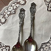 "Pair Wendell ""Ariel"" Sterling Tablespoons"