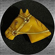 Vintage Bakelite Brooch - Highly Sought After Palomino