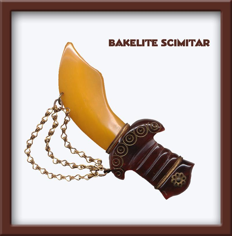 Gorgeous Bakelite Scimitar - Book Piece REDUCED