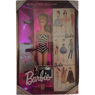 35th Anniversary (1993) Blond Barbie Doll  Special Edition 1959 Reproduction